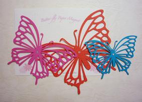 蝶のマグネット。