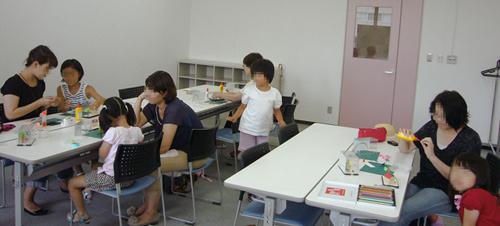 リビングカルチャー倶楽部にて親子教室。