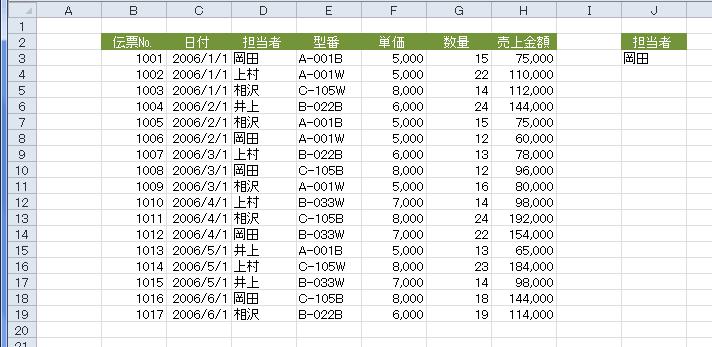 エクセル 複数条件 抽出 別シート